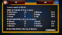 IPL Cricket Fever - Scores