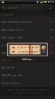 Internet Radio - Buffering screen