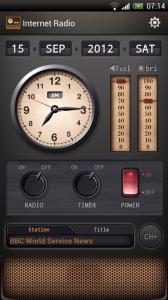Internet Radio - Main interface