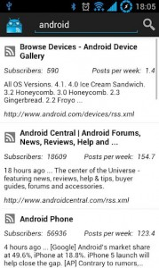 JReader Google Reader and RSS Search Articles