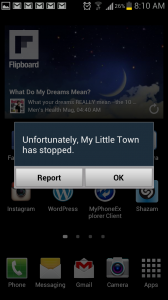 My Little Town Live Wallpaper Force Close