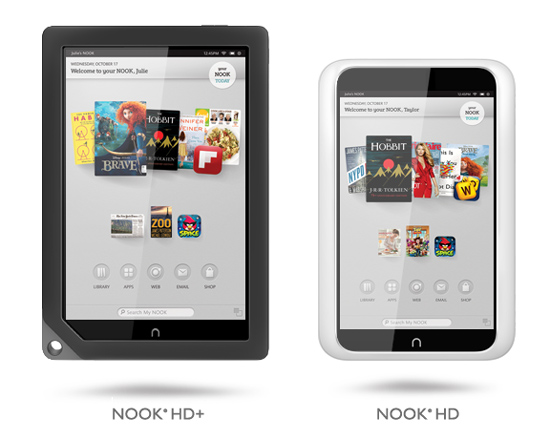 B&N Announces NOOK HD and NOOK HD+ 7 and 9-Inch Tablets starting at $199, $269