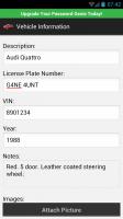 Password Genie Vehicle information