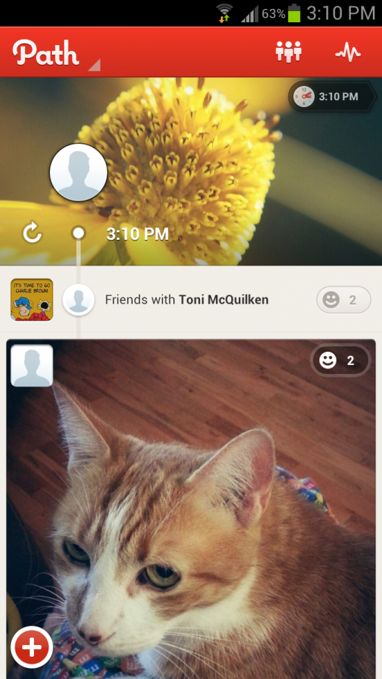 Path – personal social network app of your close friends & family