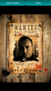Photo Effects by LoonaPix - ... and I'm on a wanted poster again
