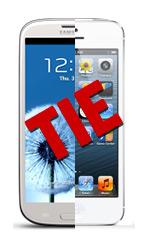 SGS3 vs iPhone 5 Tie