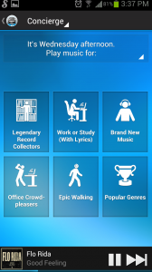 Songza Concierge