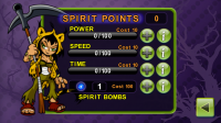 Spirit Catcher Character Upgrades with Spirit Points