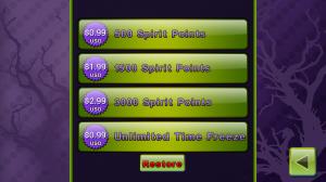 Spirit Catcher Purchase Spirit Points