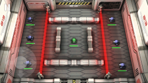 Tank Hero: Laser Wars - Fire can pass through red barriers, but not tanks