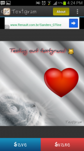 Textgram Save