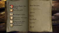 The Bard's Tale - Menu