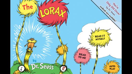 The Lorax – Dr. Seuss children's ebook app, an adaption of the original story