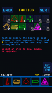 WarGames - Tactics upgrades