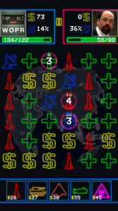 WarGames - White numbers display number of turns until you get attacked back