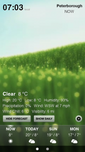 Weather HD - Sample screen 1