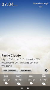 Weather HD - Sample screen 6