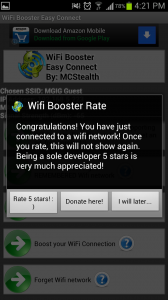 WiFi Easy Boost Rate