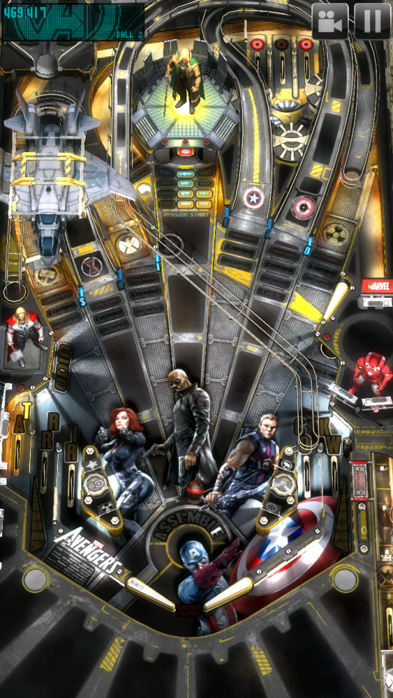 Zen Pinball THD (The Avengers) theme of the popular 3D pinball game