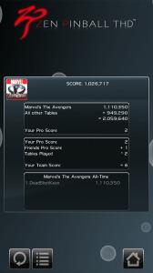 Zen Pinball THD Avengers Theme - Score