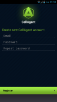 CellAgent - Log in, device