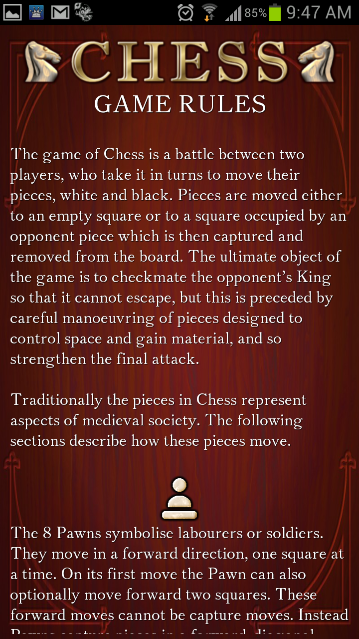 Chess Free Game Rules - AndroidTapp