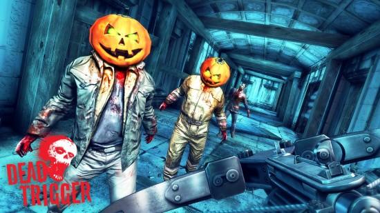 DEAD TRIGGER Halloween – blast pumpkin head zombies