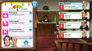 Devil's Attorney - Use various 'weapons' to defeat the witnesses, evidence and prosecutor