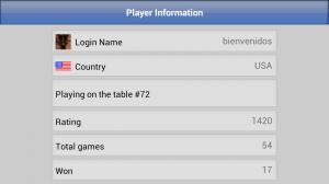 Dominoes GC Player Profile