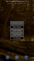 Forgotten Night Text Adventure Start Screen
