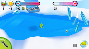 Frog on Ice - Avoid being crushed by the first boss!