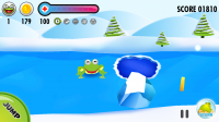Frog on Ice - Avoid pools of water