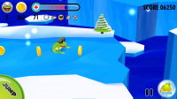 Frog on Ice - Collect coins to buy bonus items