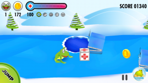 Frog on Ice - Collect health