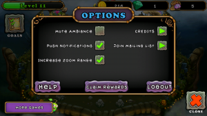 My Singing Monsters - Options