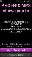 Phoenix MP3 Login with Facebook