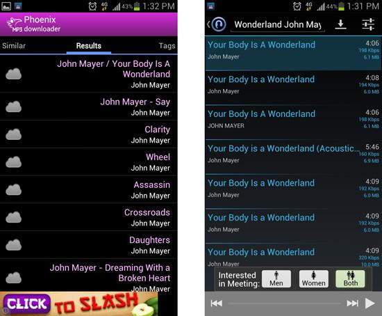 Phoenix MP3 versus MP3 Downloader