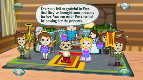 Puss in Boots : 3D Pop-up Book. A fun & educational interactive book app for kids!