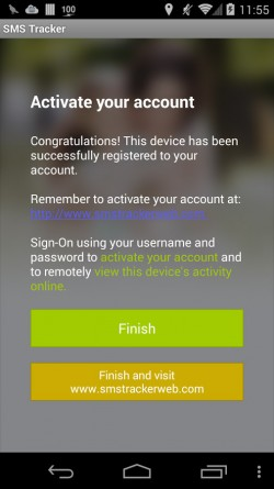 SMS Tracker - App Registration 6