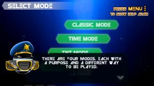 Space Ball - Mode selection