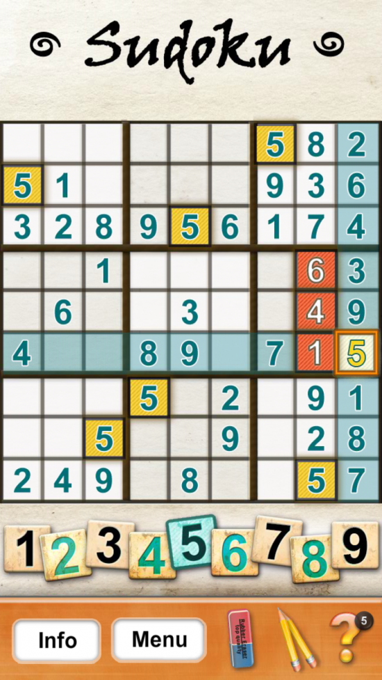 "Sudoku Pro – play Sudoku in various difficulty levels or ""Capture"" puzzles from newspapers to play within the game"