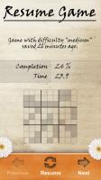 Sudoku Pro Resume Game