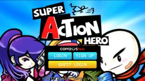 Super Action Hero - Menu