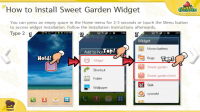 Sweet Garden Instructions How to Install the Widget