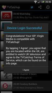 TV Catchup - Login