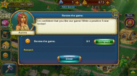 The Tribez - I'm not sure making rating the game a compulsory mission is particularly endearing.