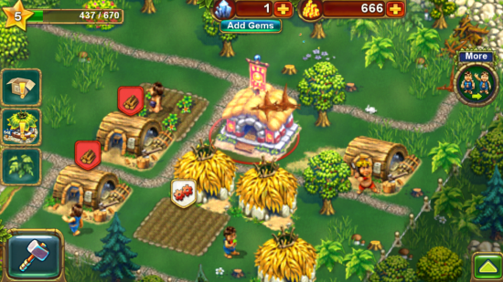 The Tribez – in this addictive Tycoon game you're a future time traveler tasked to build a jungle village in primitive times