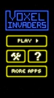 Voxel Invaders - Start Screen