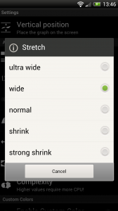 Wave - Stretch settings
