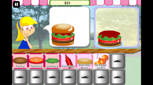 Yummy Burger - Steadily build your burger to match the one requested